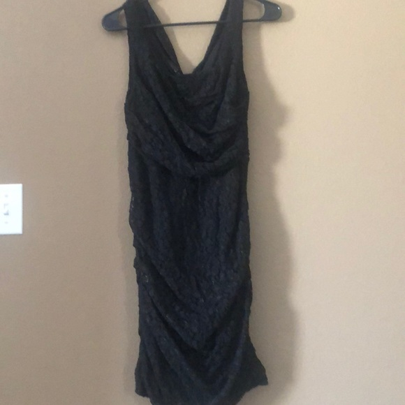 Express Dresses & Skirts - Express Black & Gold Dress, Size 8